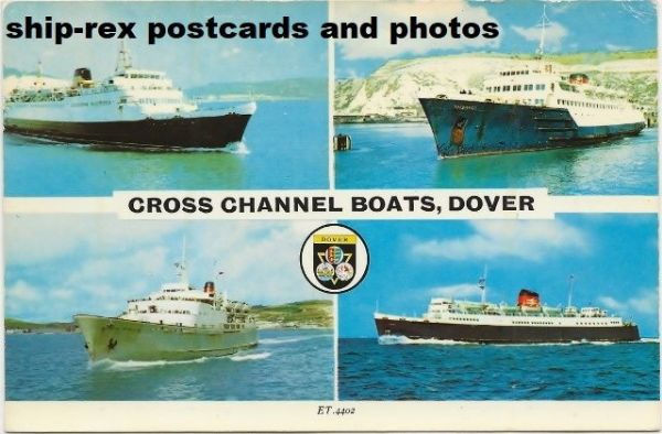 Cross Channel Boats, Dover, multi-view postcard